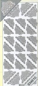 Stickers Ecken - gold