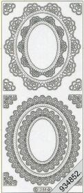 Stickers Ornamente - silber