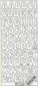 Stickers - Buchstaben gold