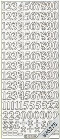 Stickers - Zahlen silber