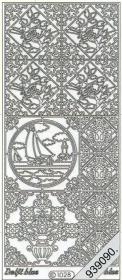 Stickers 1028 - Ziegel Segelboot - rot