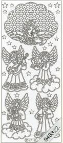 Stickers 0971 - Engel - silber