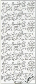 Stickers - Flitter/Tr.Text silberfarben silber