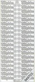 Stickers - Glitzer-Aufkleber, transparent gold