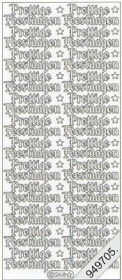 Stickers - Glitzer-Aufkleber, transparent silber