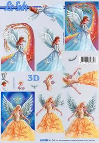3D Bogen Engel - Format A4