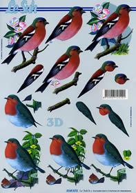 3D Bogen Vögel - Format A4