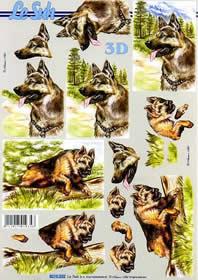 3D Bogen Schäferhund - Format A4