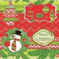 Servietten 33x33 cm - Frohe Weihnachten Grafiken