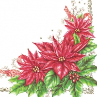 Servietten 33x33 cm - Elegant Poinsettia