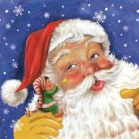 Servietten 33x33 cm - Weihnachtsmann & Elf