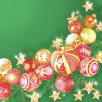 Servietten 33x33 cm - Baubles Wreath