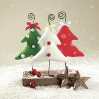 Servietten 33x33 cm - Handgemachter Weihnachtsbaum