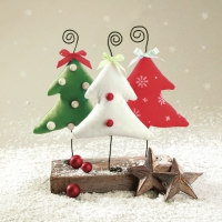 Servietten 33x33 cm - Handmade Christmas Trees