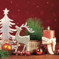 Servietten 33x33 cm - Handgemachte Weihnachtsdekoration