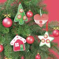 Servietten 33x33 cm - Xmas Tree Handmade Decorations