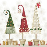 Servietten 33x33 cm - Handcrafted Christmas Trees