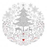 Servietten 33x33 cm - Christmas  Circle Composition
