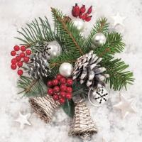 Servietten 33x33 cm - Weihnachtsgesteck