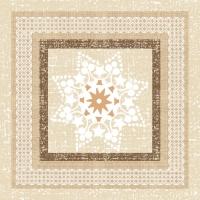 Servietten 33x33 cm - Ethnic Star in a Frame Taupe