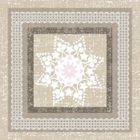 Servietten 33x33 cm - Ethnic Star in a Frame Grey