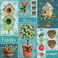 Servietten 33x33 cm - Frosty Winter Collage