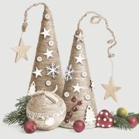 Servietten 33x33 cm - Eco Christmas Decorations