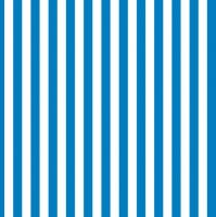Servietten 33x33 cm - Blaue Streifen