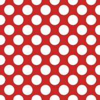 Servietten 33x33 cm - Polka Dots White
