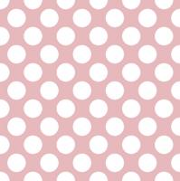 Servietten 33x33 cm - Polka Dots Pink