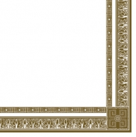 Servietten 33x33 cm - Antique Frame White