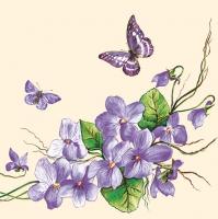 Servietten 33x33 cm - Violet Flowers