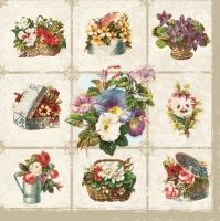 Servietten 33x33 cm - Blumen