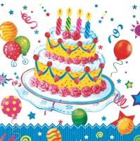 Servietten 33x33 cm - Birthday Cake