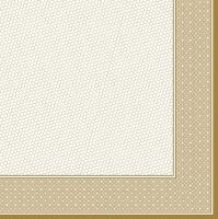 Servietten 33x33 cm - Klassischer beigefarbener Rahmen