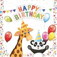 Servietten 33x33 cm - My Birthday