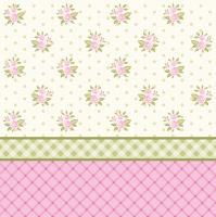 Servietten 33x33 cm - English Floral Wallpaper