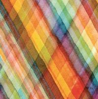 Servietten 33x33 cm - Abstract Tartan Watercolour