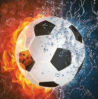 Servietten 33x33 cm - Football on Fire & Water