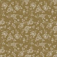 Servietten 33x33 cm - Kleine Rosen Gold