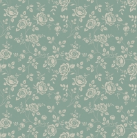 Servietten 33x33 cm - Little Roses Sage