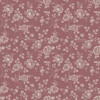 Servietten 33x33 cm - Little Roses Marsala