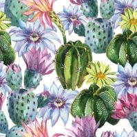 Servietten 33x33 cm - Watercolour Exotic Flowers