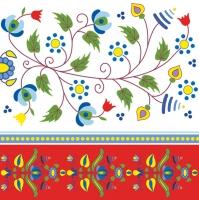 Servietten 33x33 cm - Kashubian Embroidery