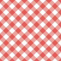 Servietten 33x33 cm - Red Vichy Check