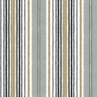 Servietten 33x33 cm - Modern Gold and Black Stripes