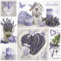 Servietten 33x33 cm - Lavender Collage