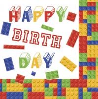 Servietten 33x33 cm - Lego Birthday