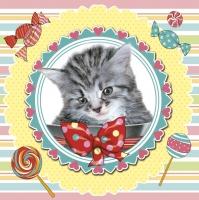 Servietten 33x33 cm - Sweet Kitten