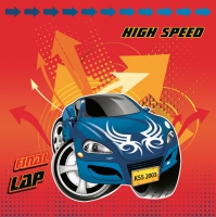 Servietten 33x33 cm - High Speed Car